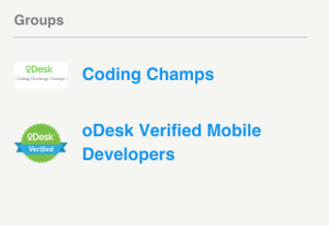 oDesk badges
