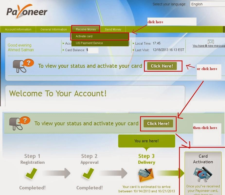 payoneer activation