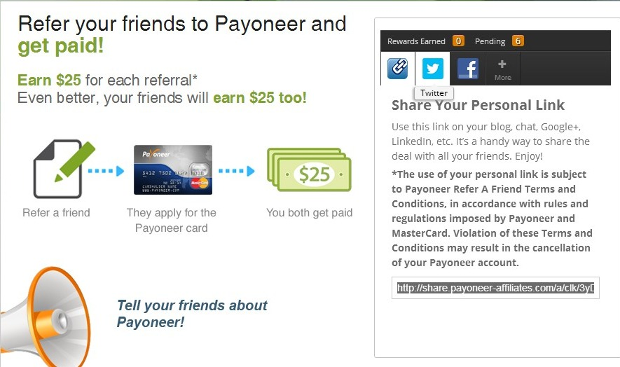 payoneer refereal