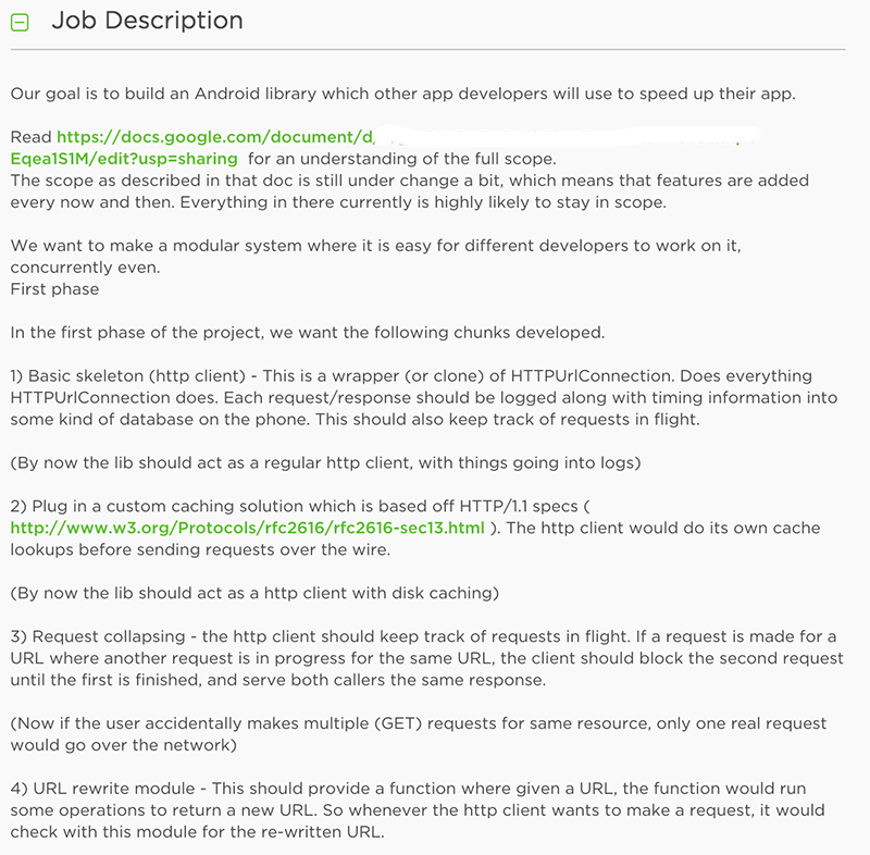 upwork job description