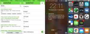 upwork upwatcher ios android