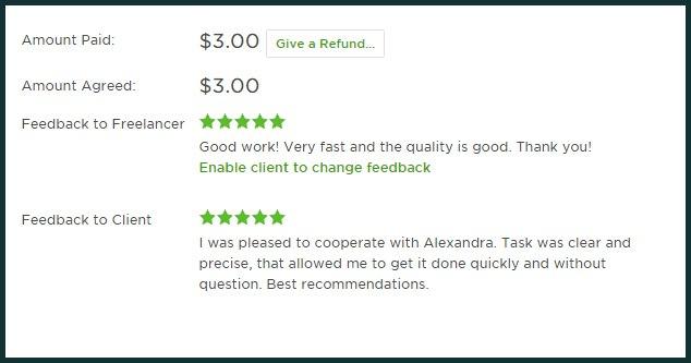 upwork feedback