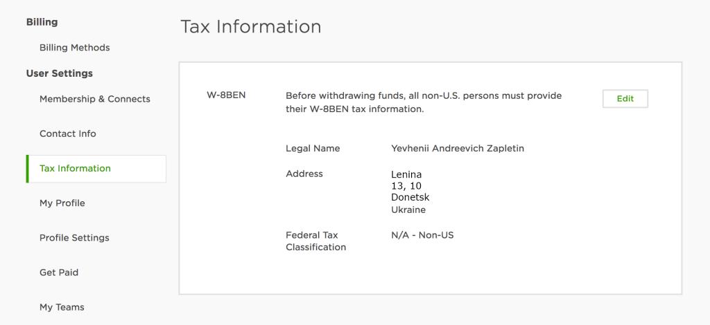 upwork tax information