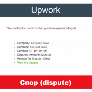 Спор (dispute) с клиентом на Upwork