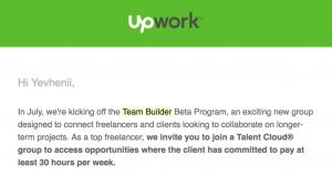 Upwork Team Builder