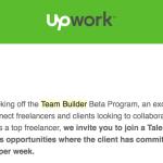 Upwork Team Builder — full-time работа на upwork (более 30 часов в неделю).