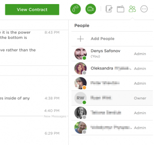 upwork agency chat invite