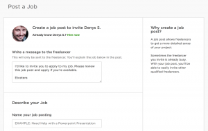 upwork agency post job