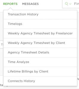 upwork agency reports list