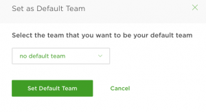 upwork set default team