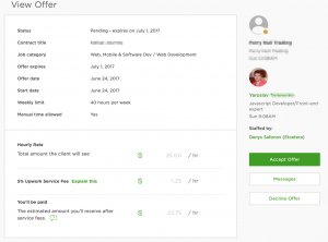 upwork view offer