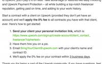 upwork пригласить клиента