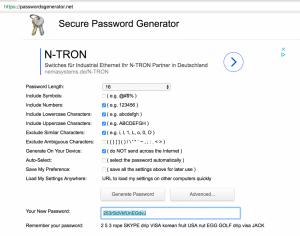 Создание безопасного пароля