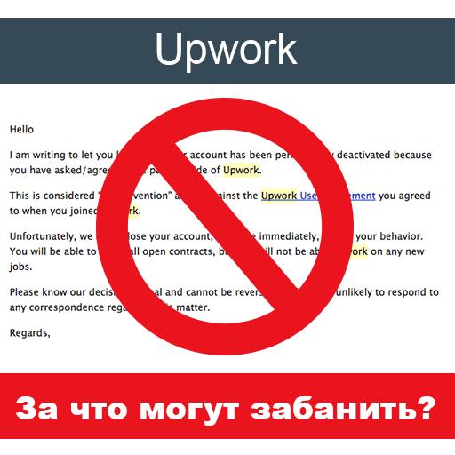 upwork правила за что могут забанить