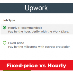 upwork fixed-price vs hourly