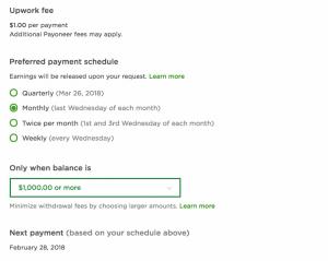 Автоматический вывод денег на Upwork (Automatic Payment Schedule)