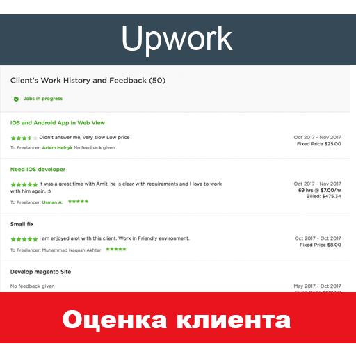 Оценка клиента на Upwork