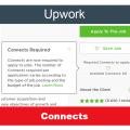 Connects - валюта заявок на Upwork