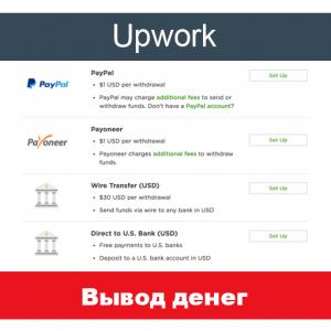 Варианты вывода денег с Upwork